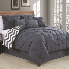 Avondale Manor Ella Pinch Pleat 7-pc. Comforter Set