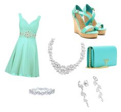 """""""Blue date"""" by sunglass2006 ❤ liked on Polyvore featuring Prada, Harry Winston and Henri Bendel"""
