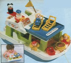 Little People Houseboat (my aunt had one in her basement for us to play with; I would launch that dog off the diving board and across the room!)