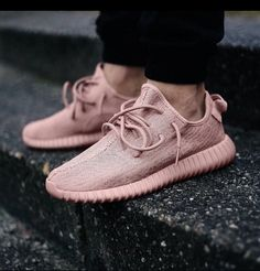 Adidas Yeezy pastel pink trainers