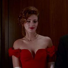 Julia Roberts in a gown designed by Marilyn Vance for Garry Marshall's 'Pretty Woman' 1990