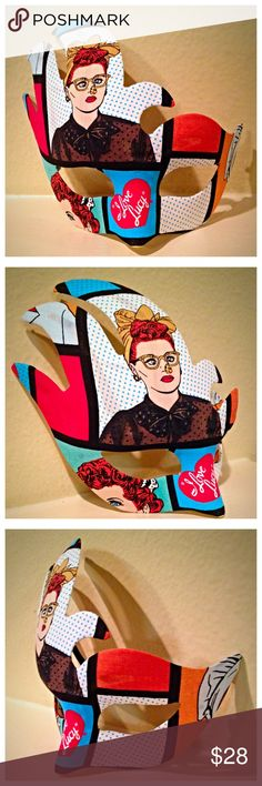 I LOVE LUCY Halloween / Masquerade Mask 🎃 MUST ORDER BY TUESDAY 10/25 & SELECT PRIORITY SHIPPING IF YOU NEED THIS MASK BY 10/31 (Cheaper on my Etsy site... See link in bio)  Perfect lightweight mask for any event! This mask is made of high quality plastic with a felt backing for comfort. One size fits most.  MASK ARE AVAILABLE IN DIFFERENT STYLES AND DIFFERENT SPORTS TEAMS OR THEMES.   **Togged 2 The Bricks is not affiliated with or endorsed by the respective trademark owners. This is not…