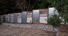 fence designs with tin roofing | Corrugated Metal Fence Panels ...