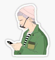 Justin Drawing Stickers Pegatina