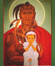 In August 1587, Native American Manteo and English baby Virginia Dare were baptized. Manteo's baptism was the first recorded baptism of the Church of England in North America, while Dare was the first child born to English settlers on the North American continent.