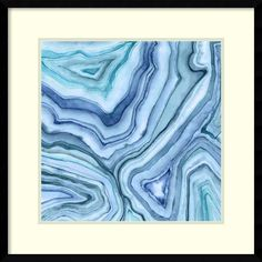 'Custom Agate Abstract II' by Megan Meagher Framed Graphic Art
