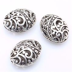 24//72pcs Tibetan Silver Charms Crafts Angel Heart Loose Spacer Beads 9*22mm