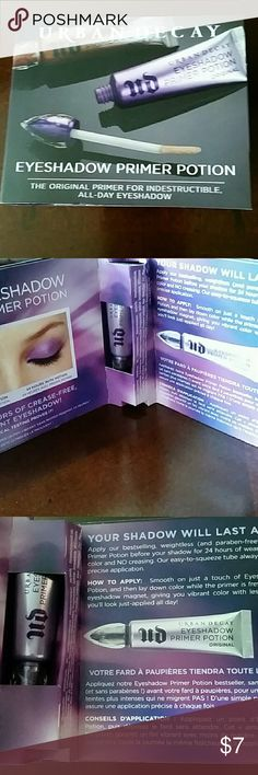 Urban Decay Eyeshadow Primer UD Eyeshadow Primer. Original formula. Deluxe Carded Sample Size. Brand new, never opened or used. Urban Decay Makeup Eye Primer
