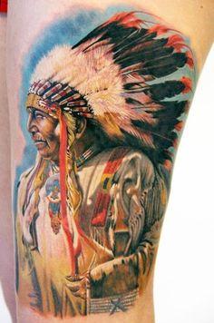 Tatuagens de Índios e Índias | Tinta na Pele