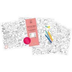 Sets De Table À Colorier Fantastic - Omy Design & Play - Loisirs créatifs #Scrapbooking #LoisirCréatif #Coloriage