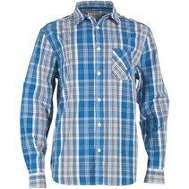 Kangaroo Poo Mens Checked Shirt Blue