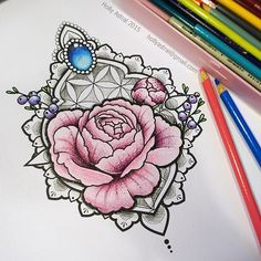 Jewelled peony blossoms available to tattoo! As dotwork or colour  Hollyastral@gmail.com