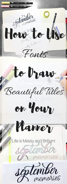 to Use Fonts to Draw Beautiful Bullet Journal Titles Transfer fonts for perfect lettering.Transfer fonts for perfect lettering. Bullet Journal Titles, Journal Fonts, Bullet Journal Printables, Bullet Journal How To Start A, Bullet Journal Junkies, Bullet Journals, Bullet Journal Cursive, Bullet Journal Stencils, Planner Journal