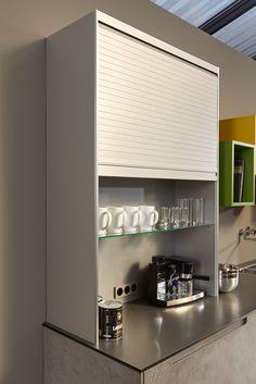 meuble rideau cuisine petit déjeuner coulissant volet aluminium ... - Meuble Cuisine Rideau