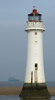 Perch Rock Lighthouse, England also known as New Brighton Lighthouse - first lit March 1, 1830 - it has not been in use as of 1st October 1973 - a light had been maintained on the rock since 1683