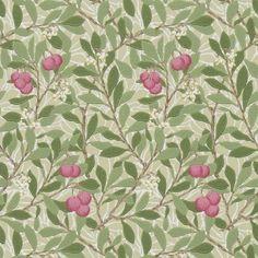 Tapete ARBUTUS olive-pink - Morris & Co. -