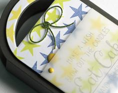 Card by Heather Pulvirenti. Reverse Confetti stamp set: In a Big Way and So Many Stars. Confetti Cuts: Tagged Tote. Birthday treat. Birthday favor. Birthday gift wrap.