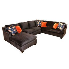 Jackson Sectional Chocolate now featured on Fab.