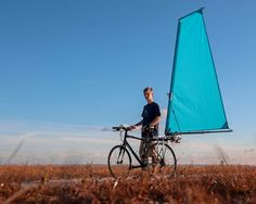 CycleWing Inc. is raising funds for CycleWing - Deployable wind propulsion for bicycles on Kickstarter! CycleWing transforms a bicycle into a sail powered vehicle in minutes. Velo Design, Velo Cargo, Beach Rides, Recumbent Bicycle, New Bicycle, Custom Cycles, Bike News, Bike Path