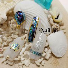 Press On Nails, Blue Nails, Nail Designs, Beaded Bracelets, Nail Art, Instagram Posts, Blue Prints, Nail Desighns, Pearl Bracelets