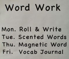 Welcome to First Grade Room 5: Daily Five: Writing & Word Work Activities