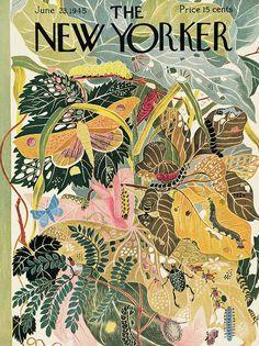 New Yorker June 23, 1945 Art Print by Ilonka Karasz