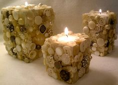 Button Tealight holders