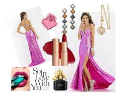 Eveningdress in rose. by johnnymuller on Polyvore featuring DANNIJO, Bobbi Brown Cosmetics and Marc Jacobs