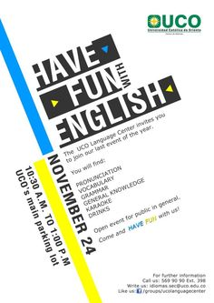 HAVE FUN WITH ENGLISH! English Center, English Fun, Grammar, Vocabulary, Have Fun, Knowledge, Language, Invitations, Languages