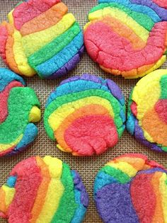 Rainbow cookies - girls can mix own rainbows