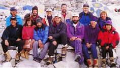 Leader) Rob Hall, Mike Groom and Andy Harris (Client) Frank Fischbeck, Doug Hansen, Stuart Hutchison, Lou Kasischke, Jon Krakauer, Yasuko Namba, John Taske, Beck Weathers (Sherpa) Sirdar Ang Dorje Sherpa, Arita Sherpa, Chuldum Sherpa, Lhakpa Chhiri Sherpa, Kami Sherpa, Ngawang Norbu Sherpa, Tenzing Sherpa