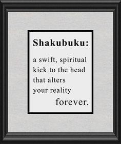 Shakubuku Grosse Point Blank Buddhist Art Print by BuckeyeStudio, $10.00