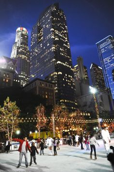 Glide into the holidays and join us for ice skating in Pershing Square!