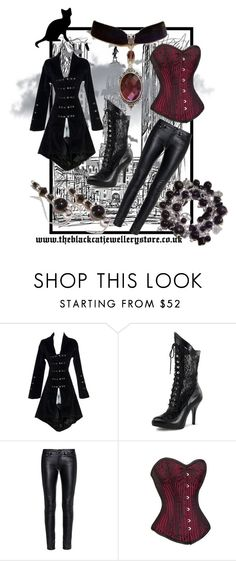 """""""Vampire Hunter"""" by theblackcatjewellerystore ❤ liked on Polyvore featuring Yves Saint Laurent, women's clothing, women's fashion, women, female, woman, misses, juniors, jewelry and gothic"""