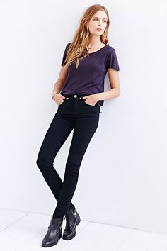 Dr. Denim Snap Unisex Mid-Rise Skinny Jean - Urban Outfitters
