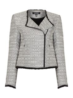 eb070247c79 Ellen Tracy Tweed Jacket With Fringing Detail - House of Fraser