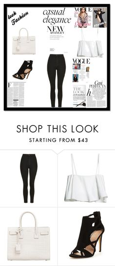 """casual elegant"" by sweetlittlebunny on Polyvore featuring moda, Topshop, Yves Saint Laurent, Whiteley i Nicki Minaj"