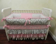 Custom Baby Bedding Set Ellisyn Girl Baby by BabyBeddingbyJBD