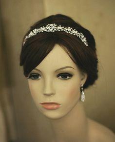 Bridal headband wedding accessory tiara wedding by Lolambridal, $128.00