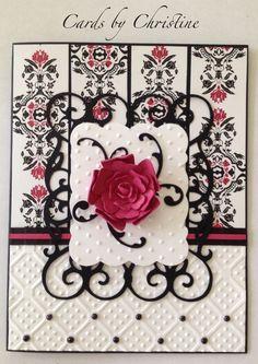 Ornamental Iron Cricut Cards | Card made using Cricut cartridges Ornamental Iron 2, Wall Decor & More ...