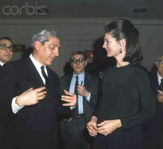 Jacqueline Kennedy Onassis Conversing with Piero Vinci  New York: Jackie Kennedy with Italian Ambassador Piero Vinci at reception where she received a special Limited Edition of Pope Paul VI's Oratio Dominica.  Date Photographed:January 30, 1967☀❤❀❤❀❤☀  http://en.wikipedia.org/wiki/Jacqueline_Kennedy_Onassis