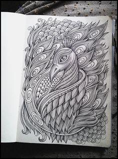 Doodle designs sketching fresh hand drawn peacock puter color art peacock pictures of doodle designs sketching Doodle Art Drawing, Zentangle Drawings, Mandala Drawing, Watercolor Mandala, Abstract Pencil Drawings, Art Drawings Sketches Simple, Bird Drawings, Mandala Art Lesson, Mandala Artwork
