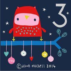 pop-i-cok: advent 3 Half Christmas, Christmas Jumper Day, Christmas Bird, Christmas Jumpers, Christmas Projects, Xmas, Countdown Calendar, Crafty Kids, Illustrations