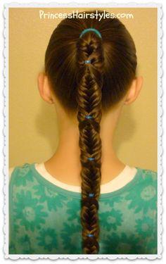 fishtail wrap braid ponytail tutorial