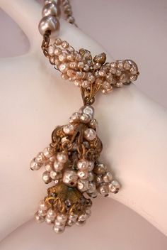 Unsigned Miriam Haskell Baroque Pearl Necklace - STUNNING