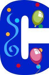 Image du Blog toutlalphabet2.centerblog.net Letter Balloons, Alphabet And Numbers, Creations, Photos, Happy Birthday, Clip Art, Symbols, Scrapbook, Lettering