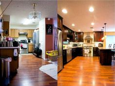 Austin Small Kitchen Remodel Before And After with Ceiling Light