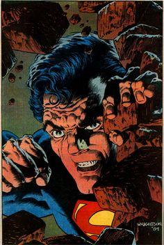 Superman pinup by Bernie Wrightson   Superman vol 1 #400
