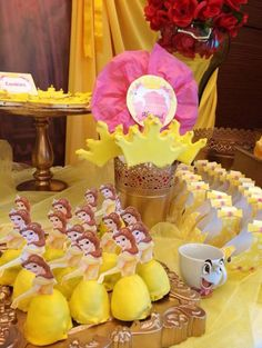 Cute treats at a Beauty and the Beast party. See more party ideas at… Beauty And The Beast Theme, Beauty And The Best, Disney Beauty And The Beast, Princess Belle Party, Princess Birthday, First Birthday Pictures, 3rd Birthday Parties, Birthday Ideas, Baby Birthday