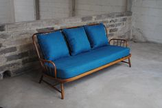 Vintage Ercol Jubilee Sofa In Teal - Sketch interiors
